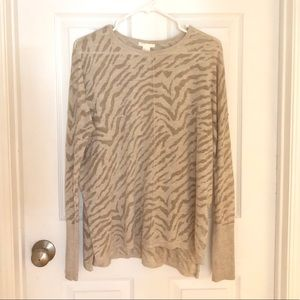 H&M Sheer Animal Print Sweater